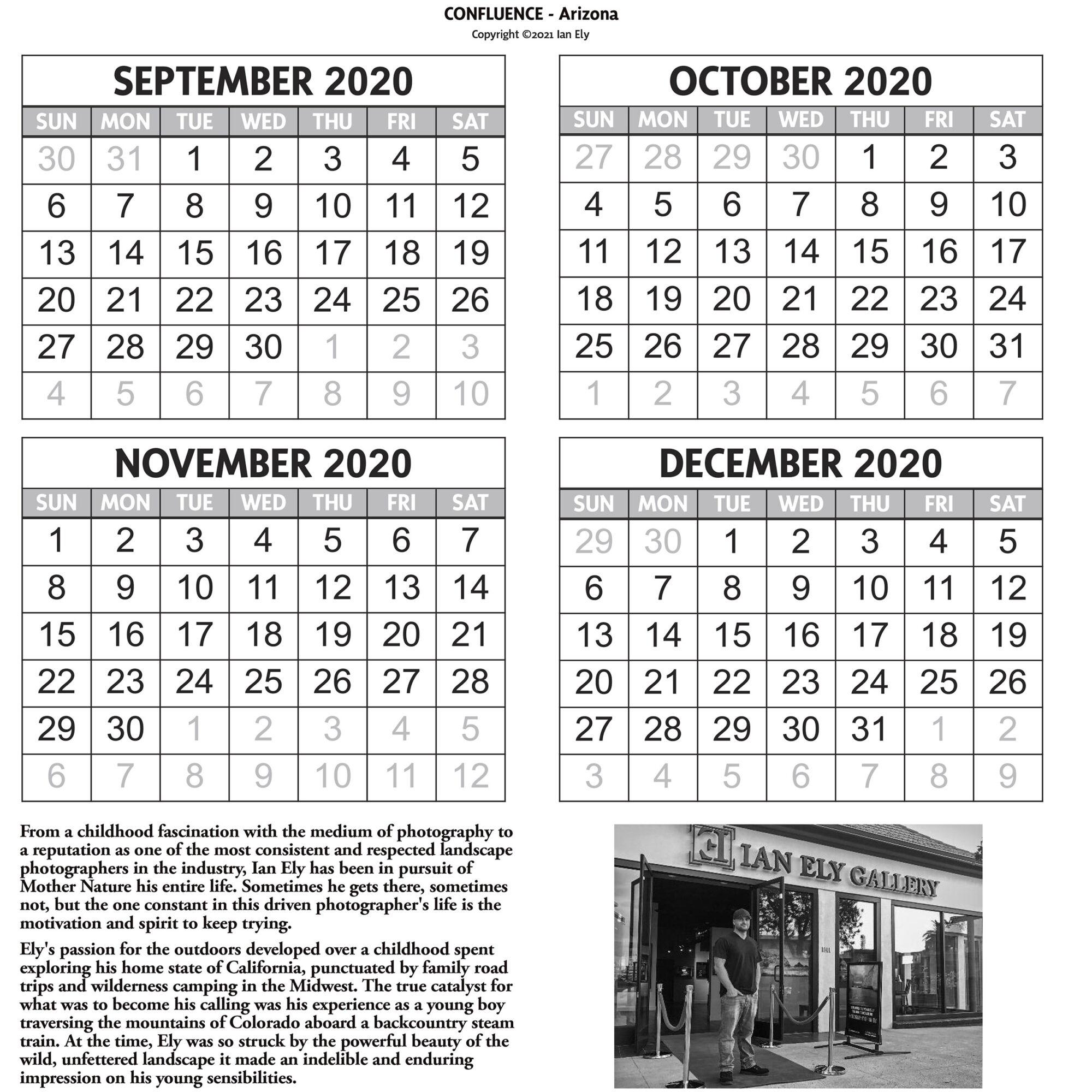 2021 Ian Ely Calendar